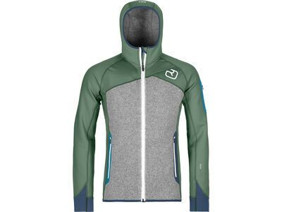 Ortovox Merino Fleece Plus Hoody M, green forest - Fleecehoody