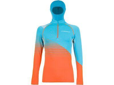 La Sportiva Pollux Long Sleeve M, tropic blue/pumpkin - Funktionsshirt
