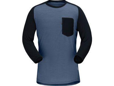 Norrona skibotn wool 3/4 T-shirt M's vintage indigo