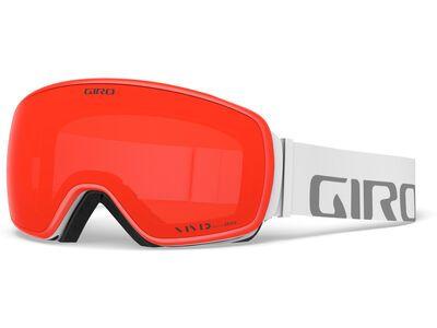 Giro Agent inkl. WS, white wordmark/Lens: vivid ember - Skibrille