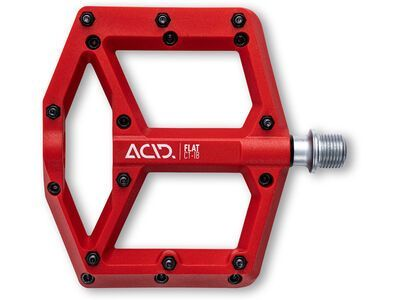 Cube Acid Pedale Flat C1-IB red