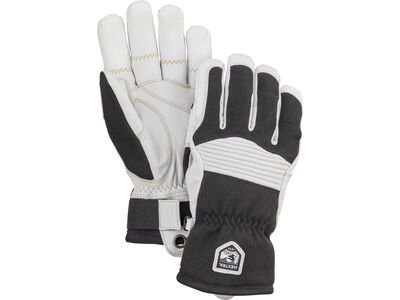 Hestra Army Leather Couloir 5 Finger, schwarz/cremefarbig - Skihandschuhe