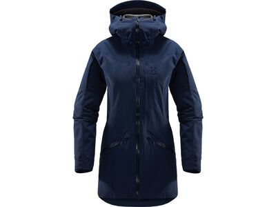 Haglöfs Niva Insulated Parka Women, tarn blue solid - Skijacke