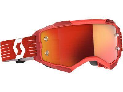 Scott Fury Goggle Orange Chrome Works bright red