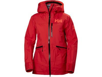 Helly Hansen W Kvitegga Shell Jacket, alert red - Skijacke