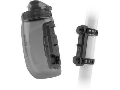 Fidlock Twist Bottle 450 + Uni Base, transparent black - Trinkflasche