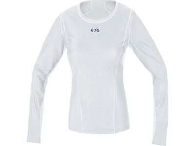 Gore Wear M Damen Gore Windstopper Baselayer Thermo Shirt Lang, light grey/white - Unterhemd