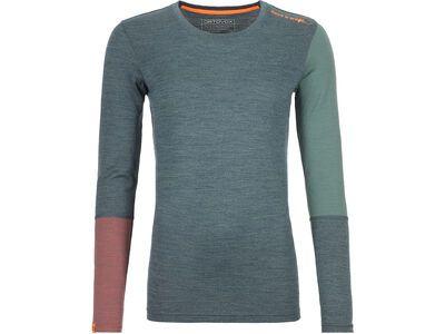 Ortovox 185 Merino Rock'n'Wool Long Sleeve W, green forest blend - Unterhemd