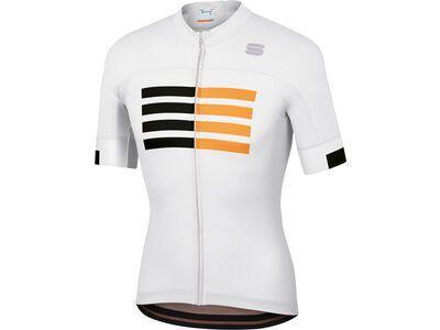 Sportful Wire Jersey, white/black/gold - Radtrikot
