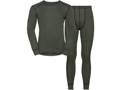 Odlo Men's Active Warm Eco Baselayer Set, climbing ivy