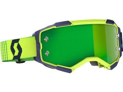 Scott Fury Goggle Green Chrome Works blue/yellow