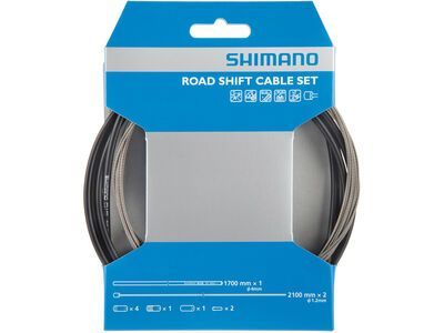 Shimano Road Edelstahl schwarz