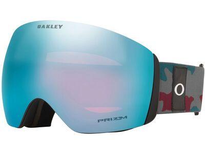 Oakley Flight Deck XL Prizm, dark grey grenache camo/Lens: sapphire iridium - Skibrille