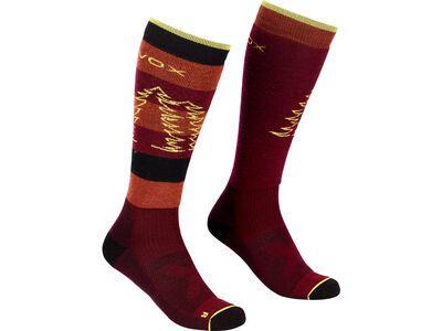 Ortovox Free Ride Long Socks W dark wine