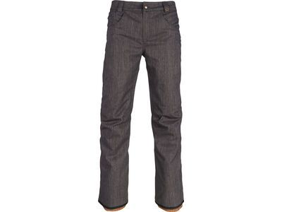 686 Men's Raw Insulated Pant, black denim - Snowboardhose
