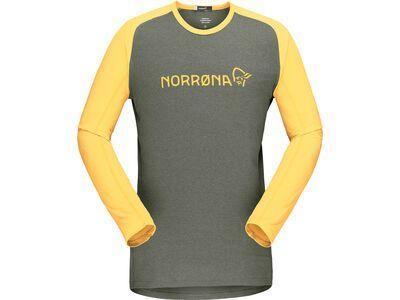 Norrona fjørå equaliser lightweight Long sleeve M's olive night/lemon chrome