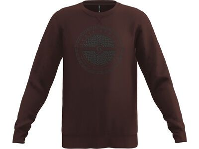 Scott 10 Casual Dye L/Sl Crewneck maroon red