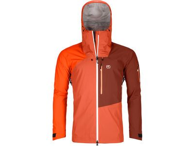 Ortovox 3L Merino Naked Sheep Ortler Jacket M, desert orange - Skijacke