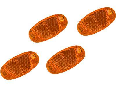 Cube RFR Speichenreflektor Set CMPT orange