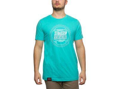 BIKER-BOARDER Strassenschlacht T-Shirt Zahnrad Unisex türkis