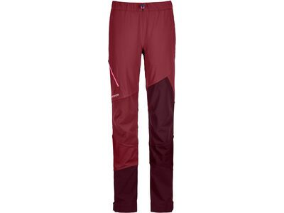 Ortovox Merino Naturtec Light Col Becchei Pants W, dark blood - Skihose