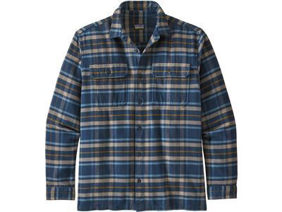 Patagonia Men's Long-Sleeved Fjord Flannel Shirt, new navy - Hemd