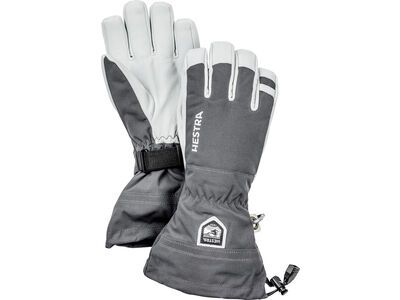 Hestra Army Leather Heli Ski 5 Finger grey