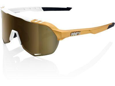 100% S2 Peter Sagan LTD inkl. WS, weiß/gold/Lens: gold mirror - Sportbrille