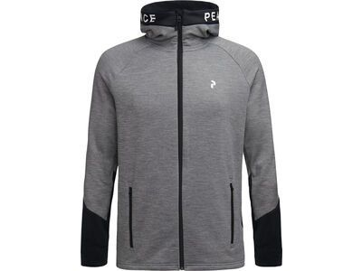 Peak Performance W Rider Melange Zip Hood, grey melange - Fleecejacke