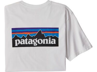 Patagonia Men's P-6 Logo Responsibili-Tee, white - T-Shirt