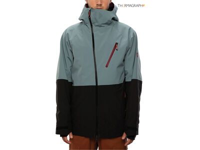 686 Men's GLCR Hydra Thermagraph Jacket, goblin blue colorblock - Snowboardjacke
