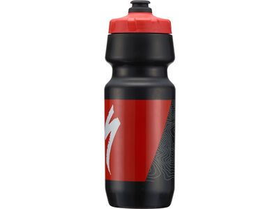 Specialized Big Mouth 0,7 L, black/red topo block - Trinkflasche