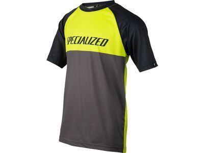 Specialized Kids' Enduro Grom Jersey, hyper green/charcoal block - Radtrikot