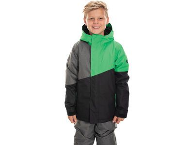 686 Boys' Cross Insulated Jacket, hex green colorblock - Snowboardjacke
