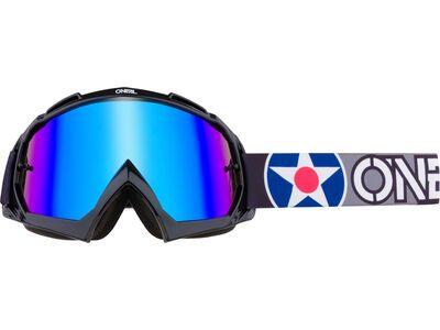 ONeal B-10 Goggle Warhawk – radium blue black/gray