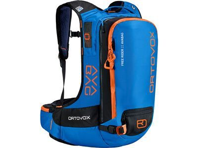 Ortovox Free Rider 22 mit Avabag-Unit, ohne Kartusche, safety blue - Lawinenrucksack