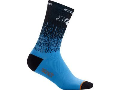 Cube Socke High Cut X Actionteam, black´n´blue - Radsocken