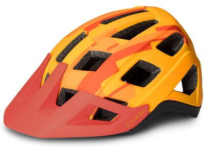 Cube Helm Badger, orange camo - Fahrradhelm