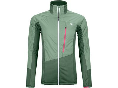 Ortovox Westalpen Swisswool Hybrid Jacket W, green forest - Thermojacke