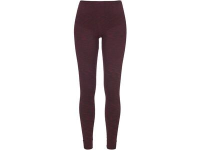 Ortovox 230 Merino Competition Long Pants W, dark wine blend - Unterhose