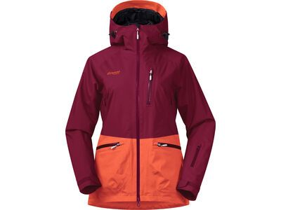 Bergans Myrkdalen Insulated Lady Jacket, red/magma/silver grey - Skijacke