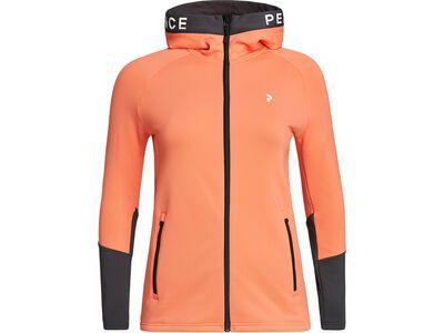 Peak Performance W Rider Zip Hood light orange/motion grey