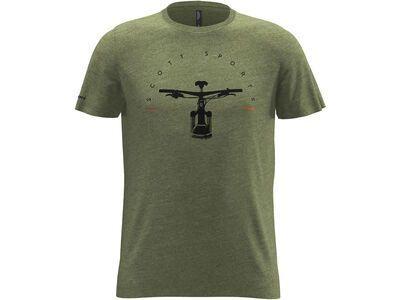 Scott 20 Casual Dye S/Sl Tee green moss melange