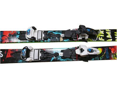 *** 2. Wahl *** Set Deal: K2 Domain 2013, colourful + Marker Griffon 13 2013, white/black - Ski Set | 169cm/90 mm