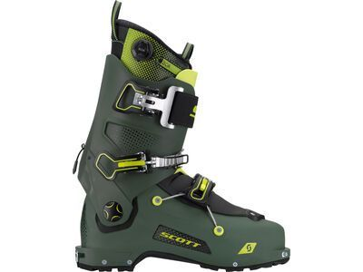 Scott Freeguide Carbon 2021, military green / yellow - Skiboots