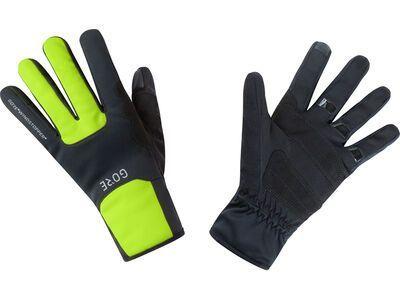 Gore Wear M Gore Windstopper Thermohandschuhe black/neon yellow