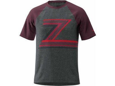 Zimtstern The-Z Tee, melange/windsor wine - Radtrikot