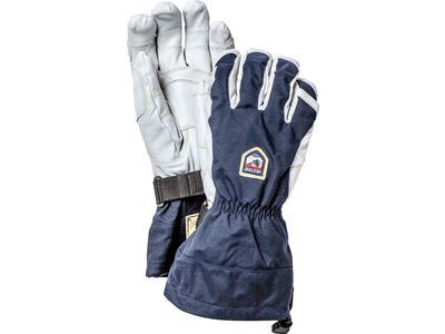 Hestra Army Leather Heli Ski Ergo Grip 5 Finger, navy/offwhite - Skihandschuhe