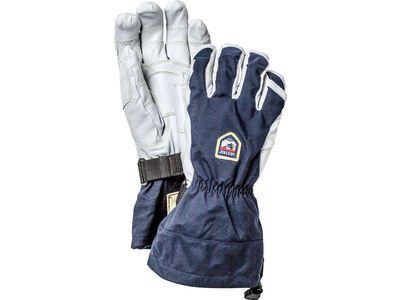 Hestra Army Leather Heli Ski Ergo Grip 5 Finger, navy/offwhite - Skihandschuhe