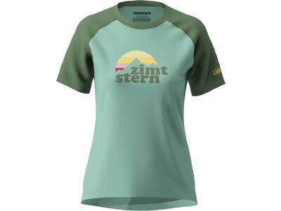 Zimtstern Sunsetz Tee Women's, green/bronze green - Funktionsshirt